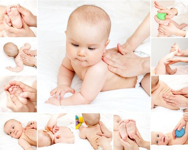 массаж новорожденному