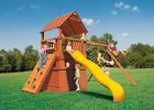 Миниатюра к статье Как выбрать детскую площадку для загородного дома для ребенка?