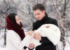 Миниатюра к статье Когда гулять с новорожденным после роддома зимой?